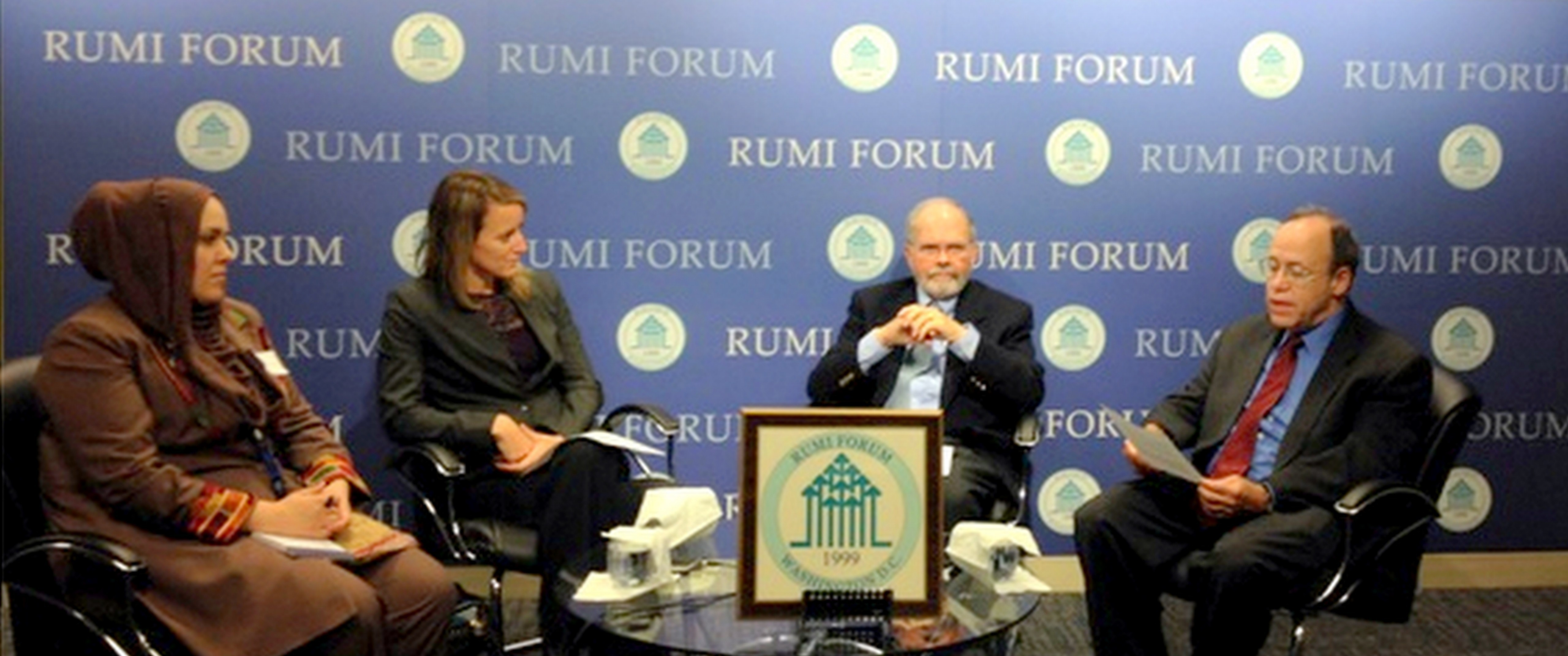 USIP's David Smock, Susan Hayward and Palwasaha Kakar talked on religious peacebuilding on Tuesday, September 23, 2014. Marc Gopin moderated.