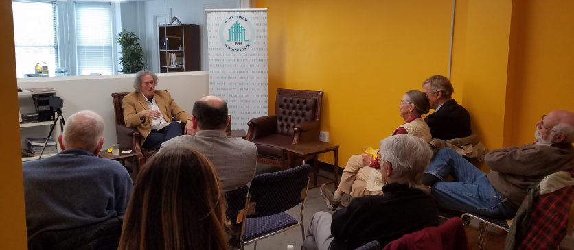 On November 14th, Rumi Forum held a book event at our offices for God and the Goalposts: A brief History of Religion, Sports, Politics, War, and Art.