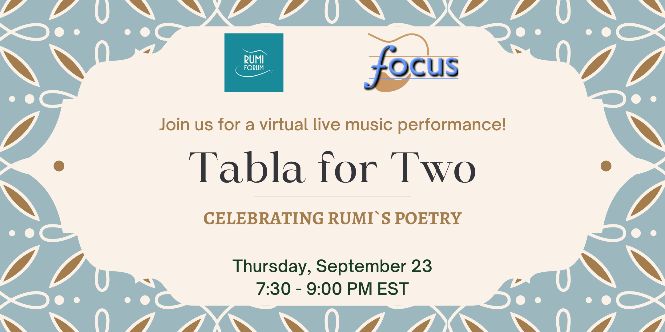 Tabla for Two: Celebrating Rumi`s Poetry